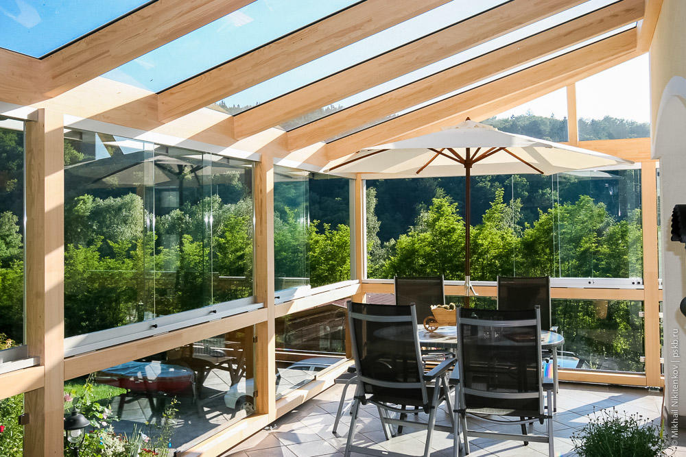 девочках стеклянная крыша для террасы фото салата очень удобно